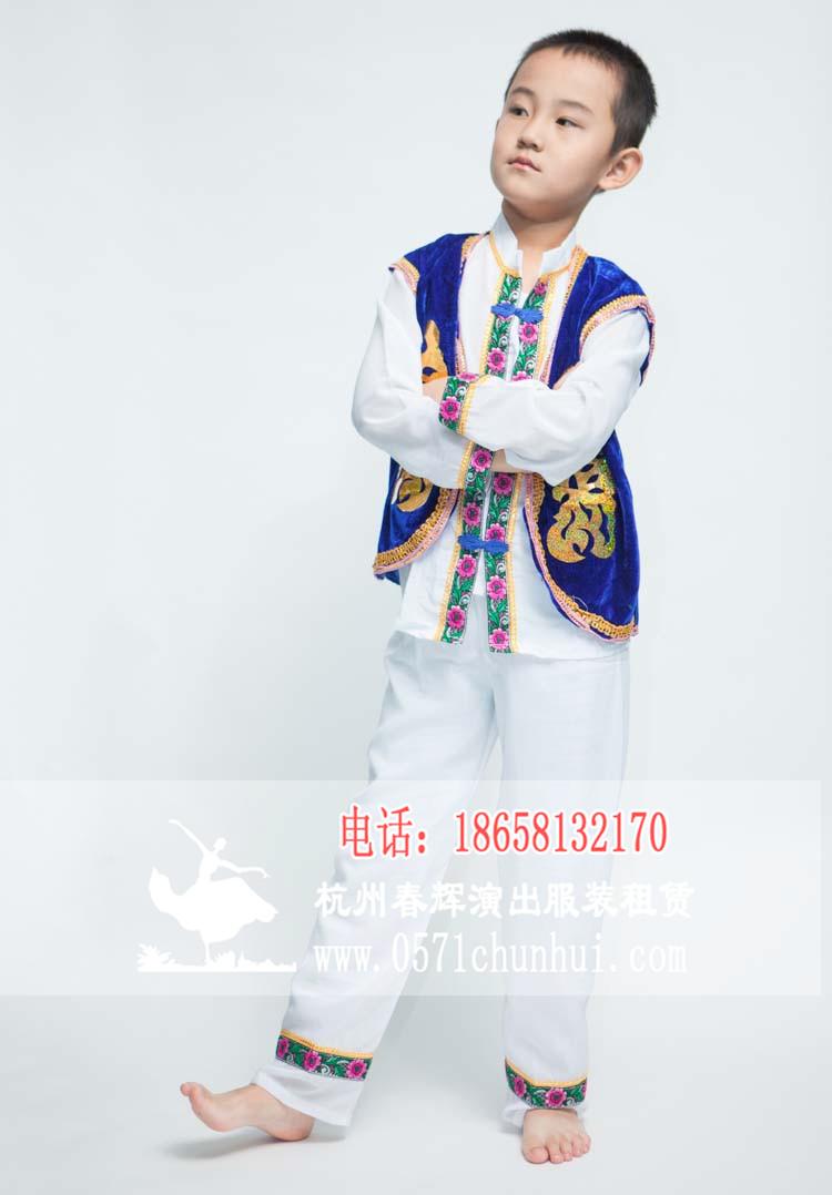 56个民族表演服儿童表演服书童服饰古代学生三字经